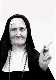 NUN WITH FAG
